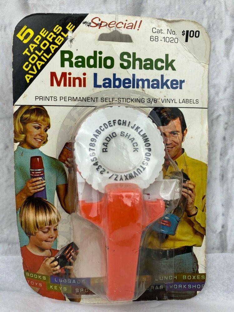 1970's Radio Shack Orange Mini Labelmaker Sealed In