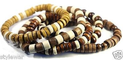 7.5 inch wood #ladies bead #bracelets mens boys #surfer beach bracelet pack of 12,  View more on the LINK: 	http://www.zeppy.io/product/gb/2/121715354993/
