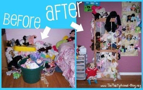 My favorite Stuffed Animal Storage Solution
