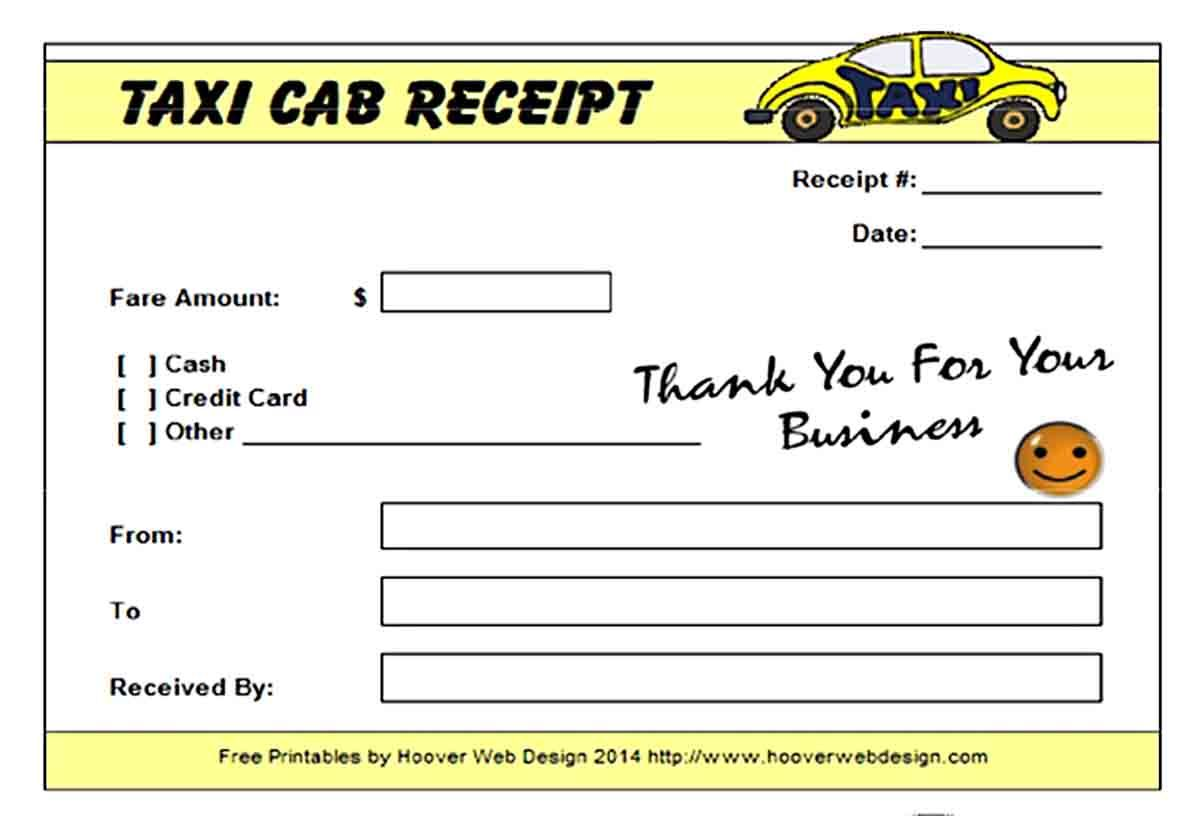 Taxi Receipt Template Receipt Template Business Template Templates
