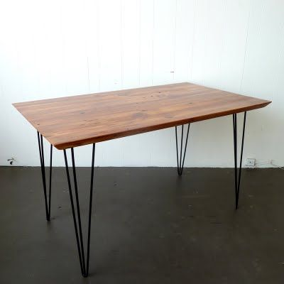 HAIRPIN + RECLAIMED WOOD DINING TABLE