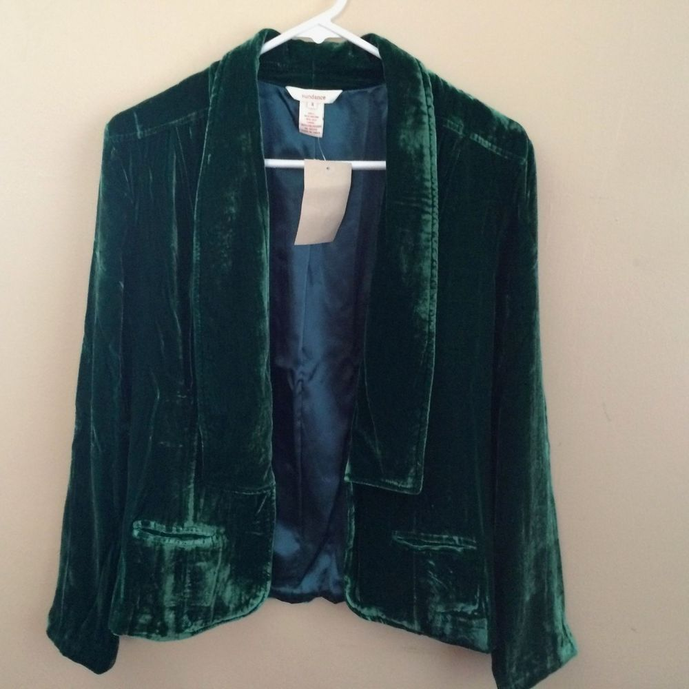 Sundance Silk Blend Velvet Jacket, Size 4 (Retail $198) #Sundance #SoftJacket #EveningOccasion