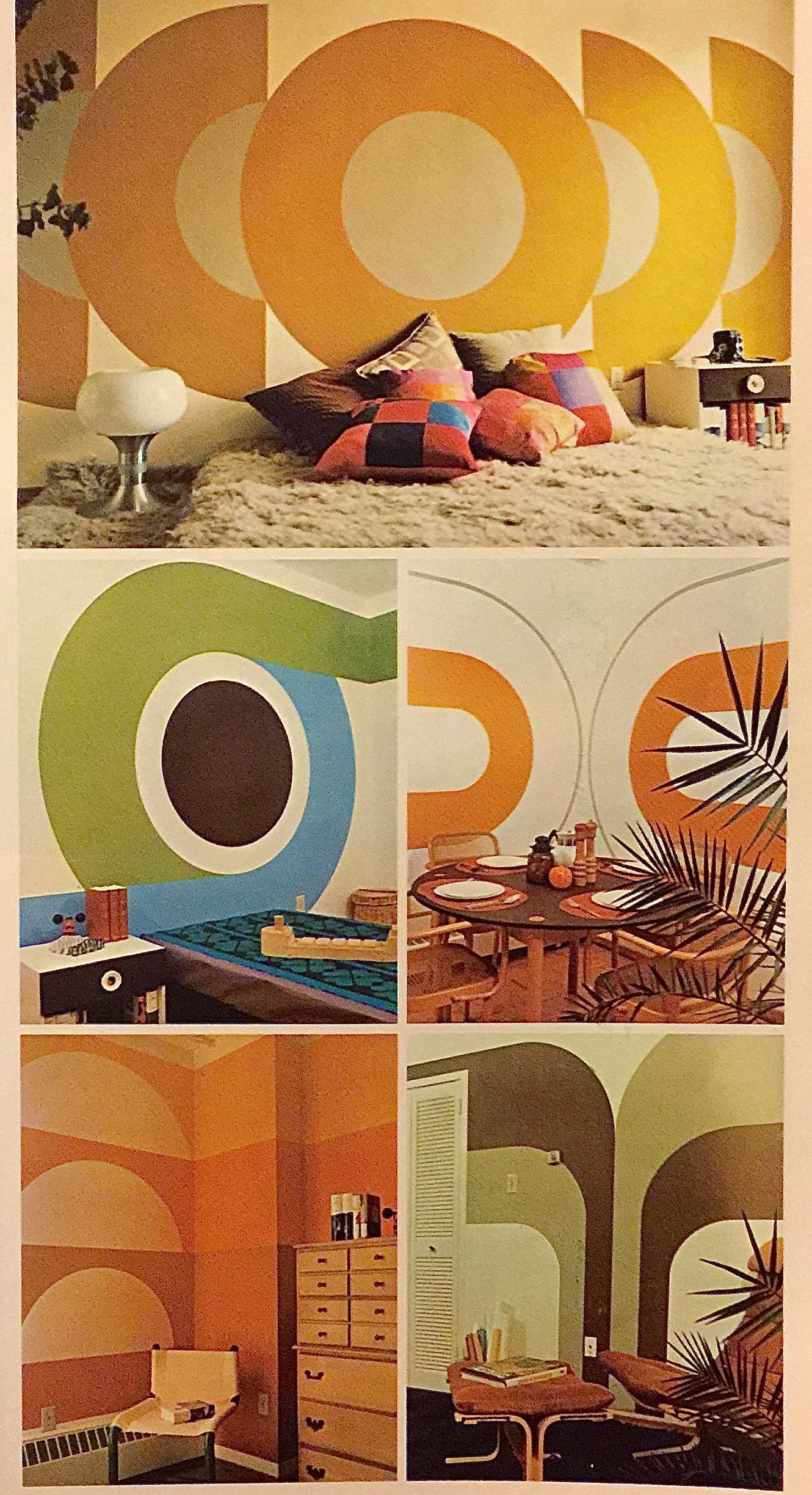 60s Bedroom Pin By Circa 78 Designs On Supergraphics Pinterest