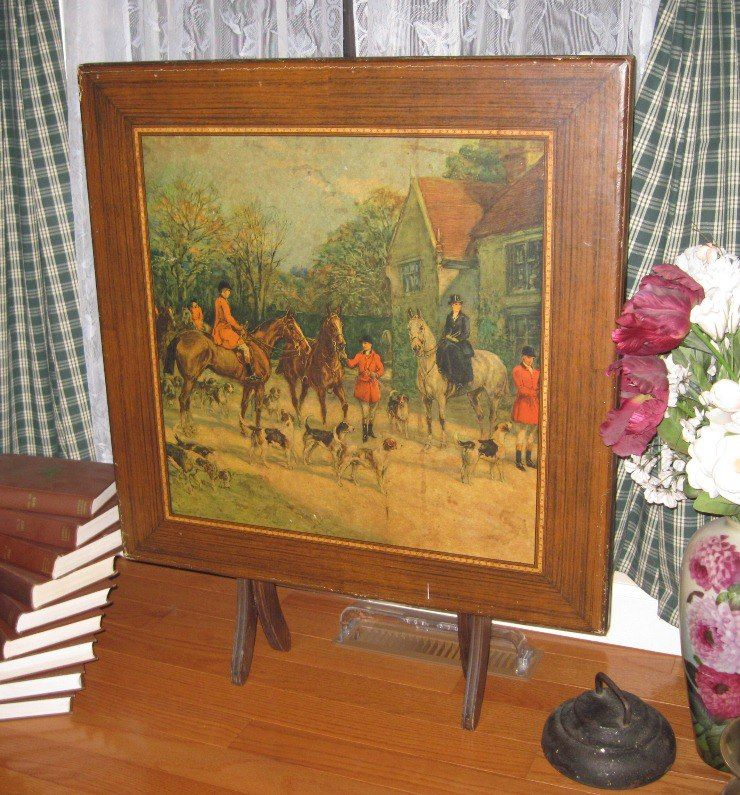 My Vintage Card Table With Hunt Scene By Heywood Hardy Hunt Scene Old Things American Saddlebred