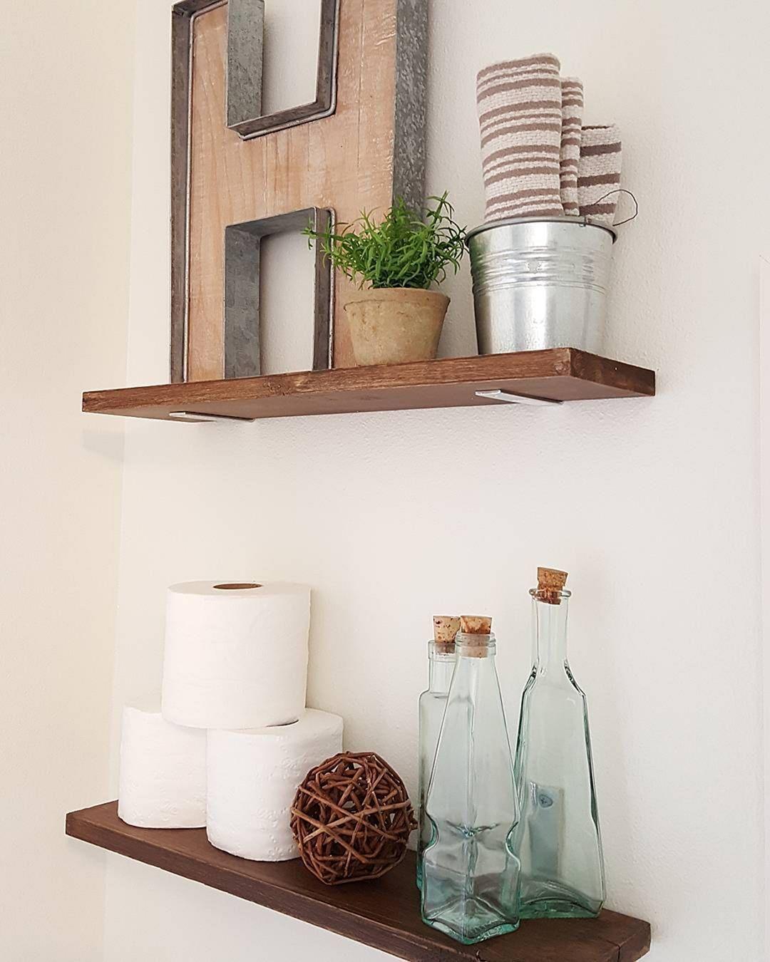 25 Amazing DIY Floating Shelves For Bathroom to Easy