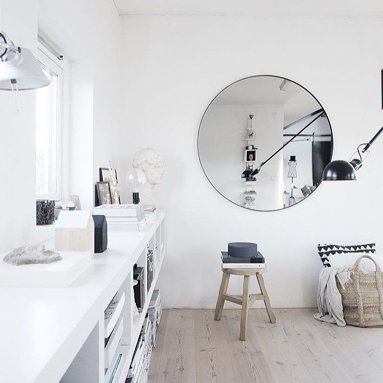 Aytm Circum Large Mirror In Black Photo Maudsagency Aytm S In Use Pinterest Interiors Hallway Mirror And Mirror Inspiration