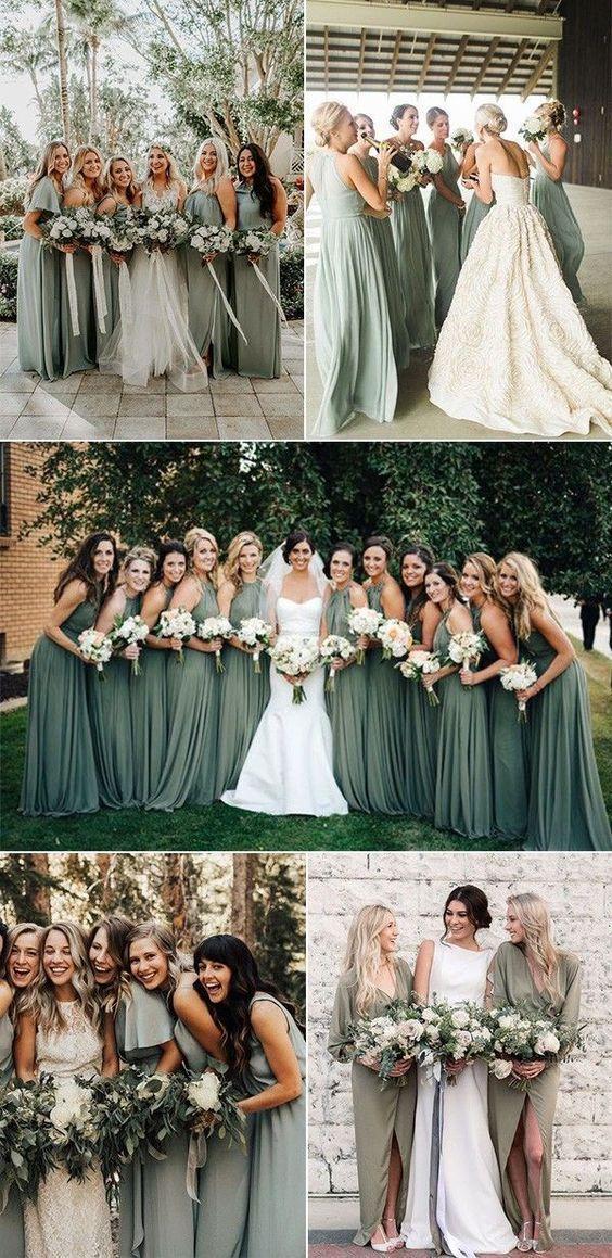 sage green white wedding
