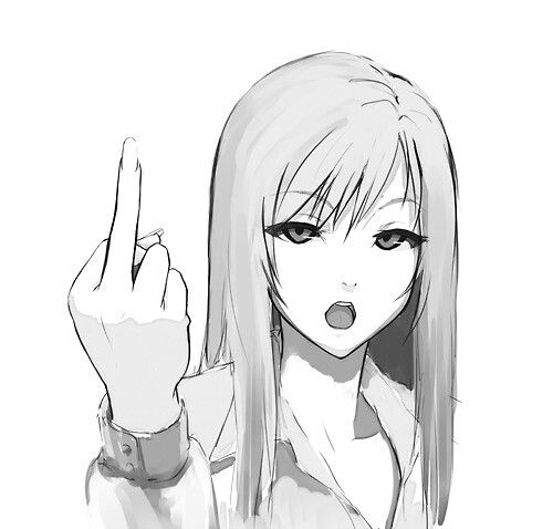 anime middle finger