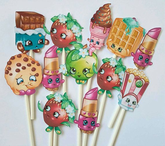 Shopkins cupcake toppers - set of 12, shopkins party, shopkins birthday
