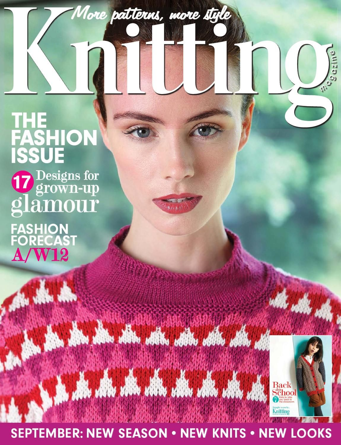 Knitting Issue 106 2012 Stripped jacket by Sian Brown