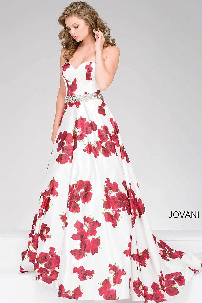 We\'re painting the roses red #JOVANI #37940 | Prom 2017 | Pinterest ...