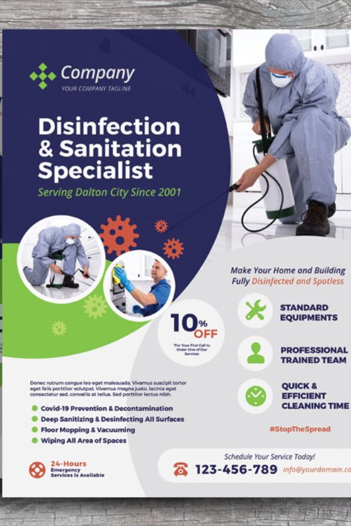 Cleaning disinfection flyers cleaning service flyer