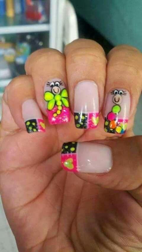 Muñecos Nail Designs Nails Nail Art Nail Designs
