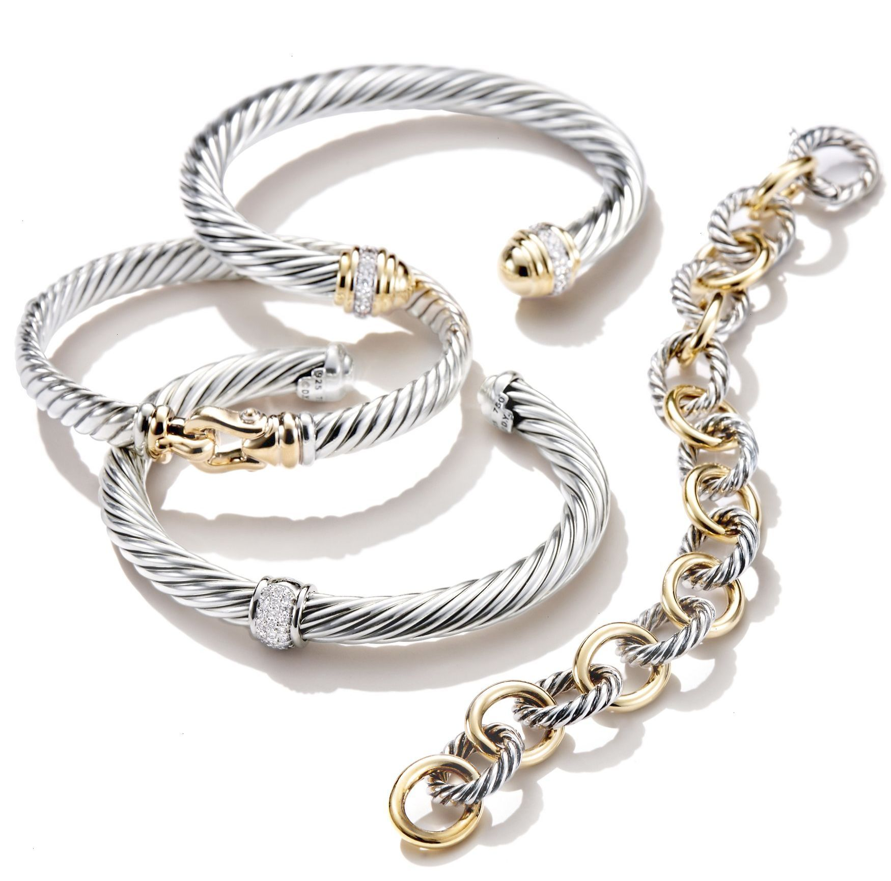 David yurman bracelets are designed to layer and stack together