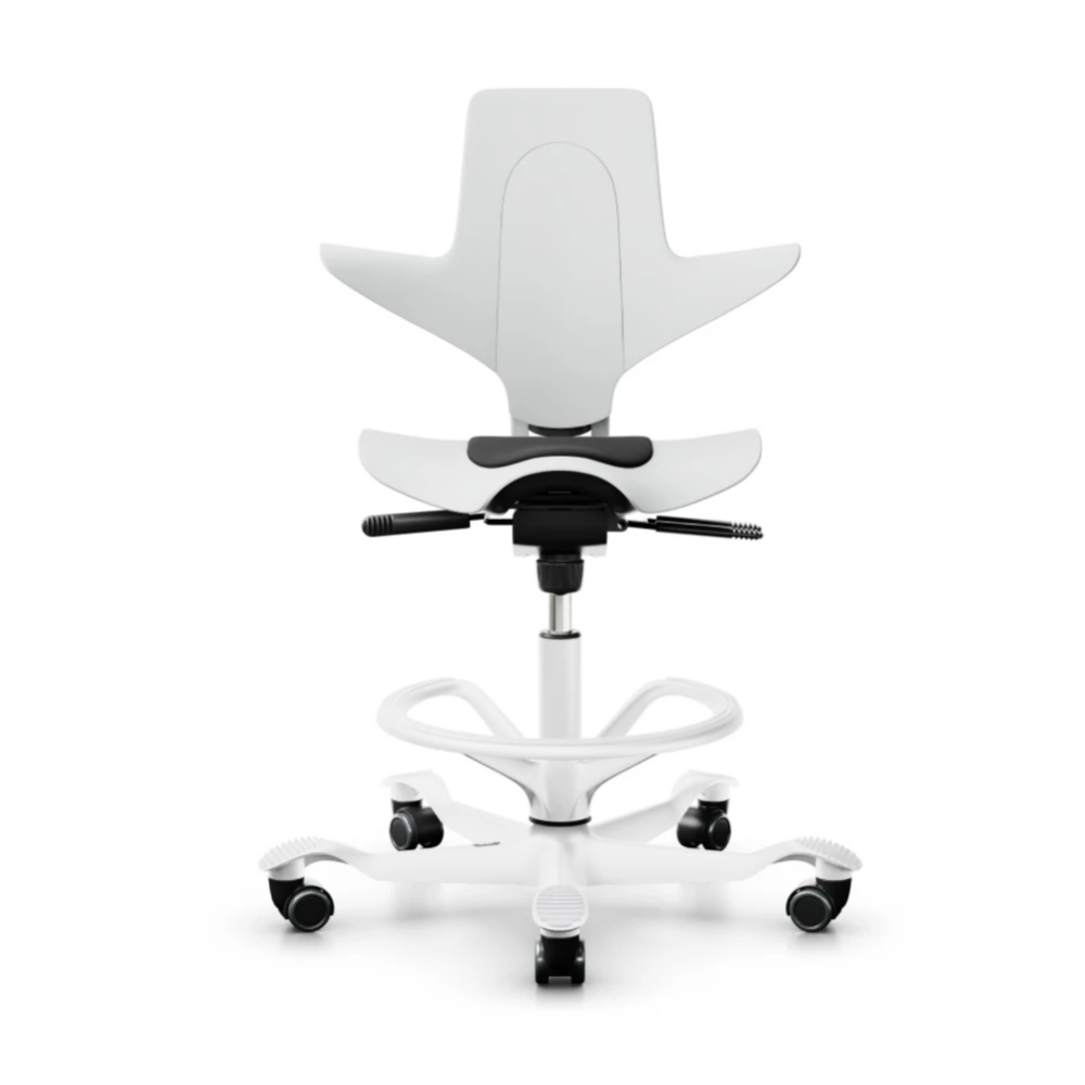 Hag Capisco Puls 8010 Ergonomic Chair White In 2020 Ergonomic Chair Plastic Chair Work Chair