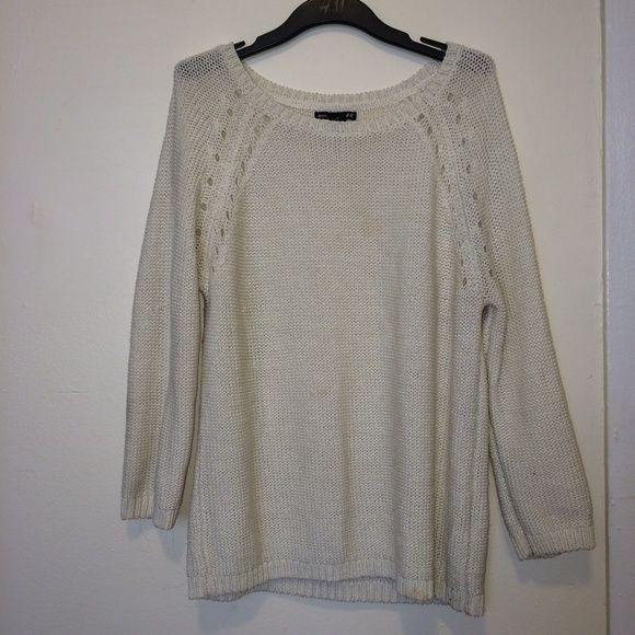 SALE- Oversized sweater Not very thick material. White. Fits ...