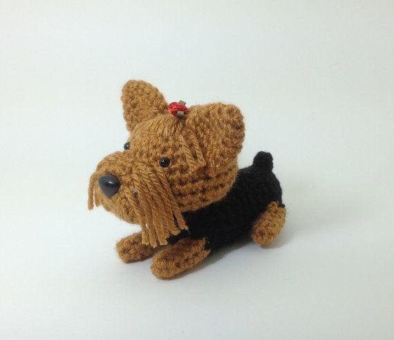 Miniature Yorkshire Terrier - Crochet Dog - Micro Amigurumi ... | 492x570