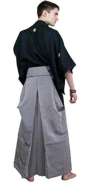 8a15a70c05 japanese traditional silk striped umanori hakama, 1950's   fashion ...