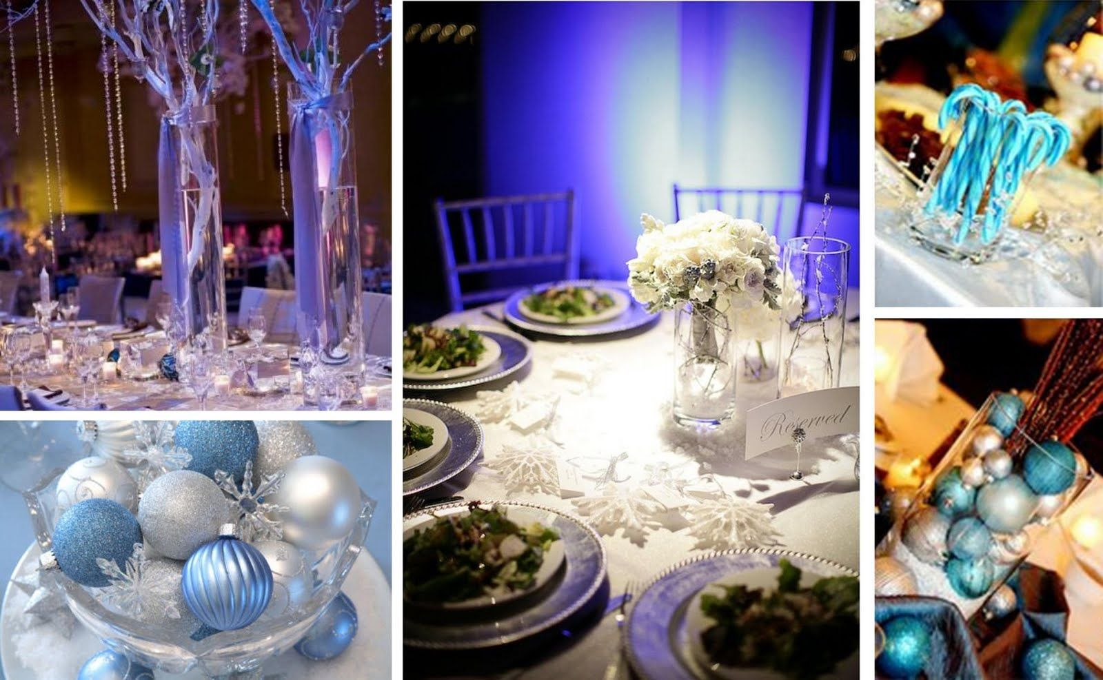 Winter Wonderland Wedding Decorating