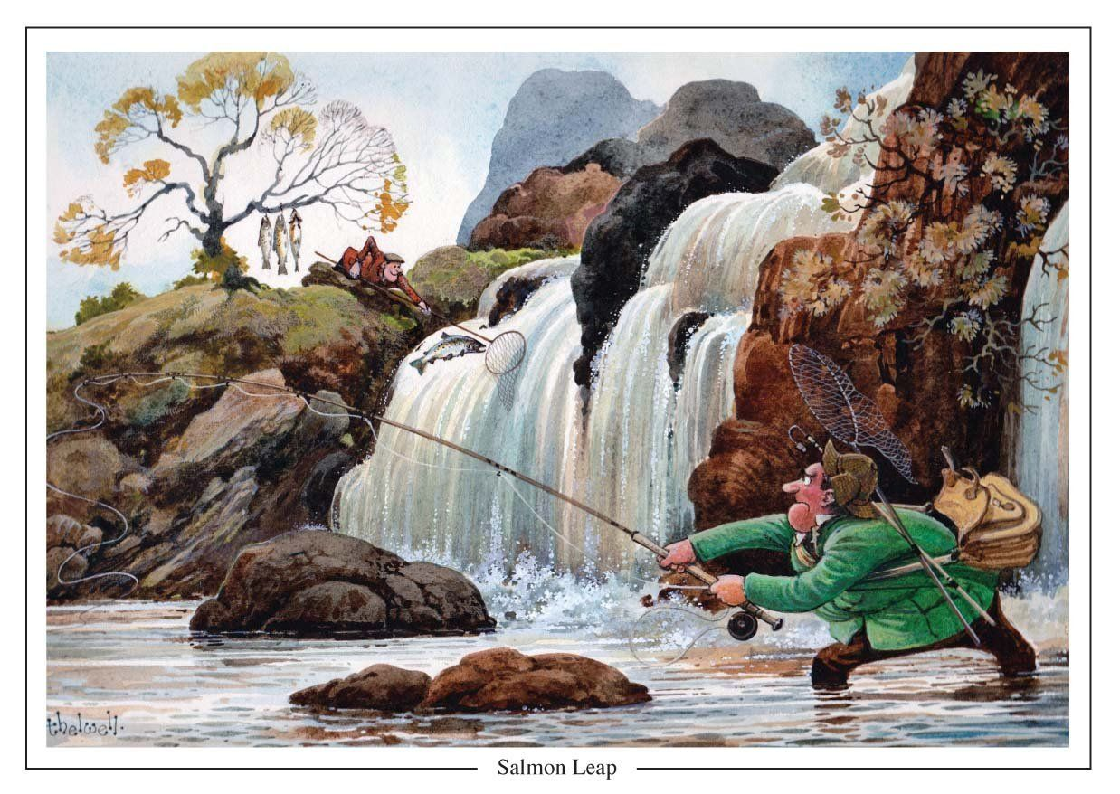 Salmon leap by norman thelwell a5 fishing greeting amazon salmon leap by norman thelwell a5 fishing greeting amazon kristyandbryce Choice Image