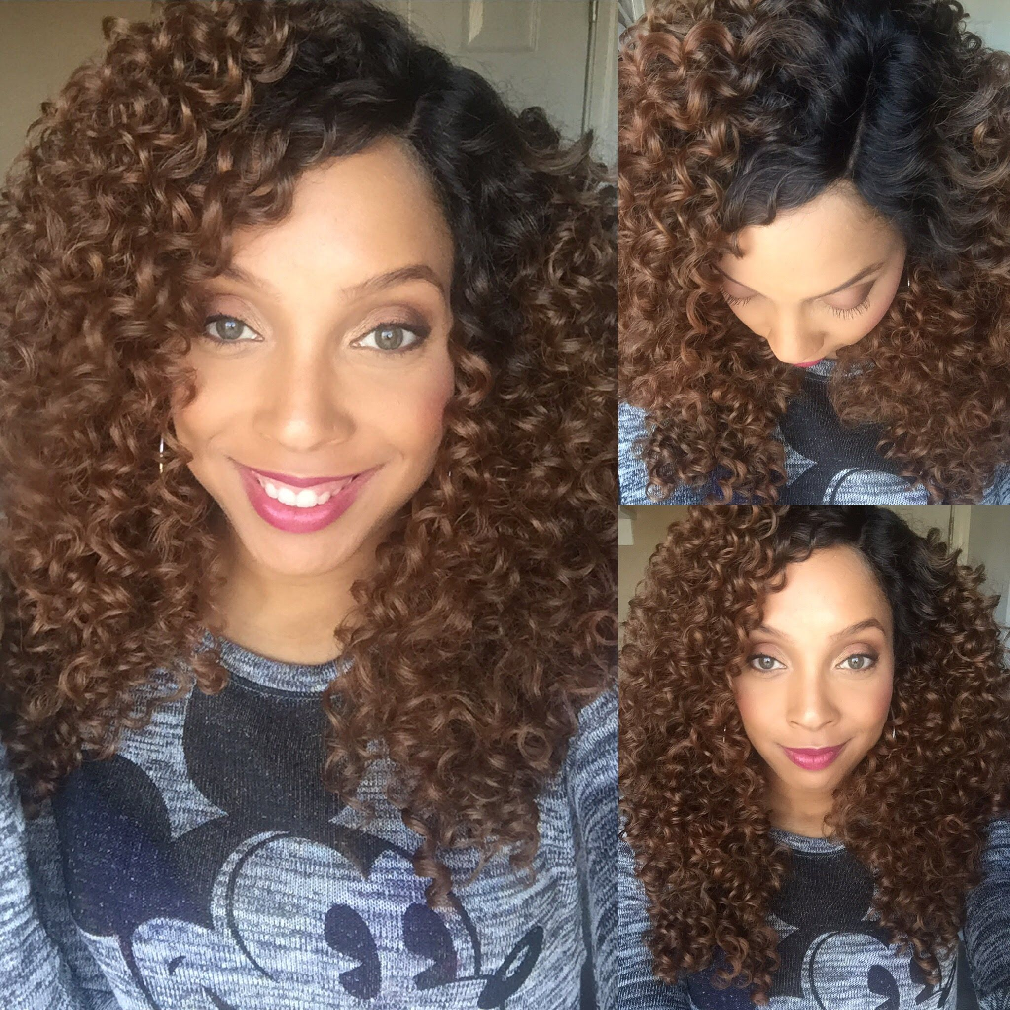 Outre Dominican Curly Hair Lace Front Wig Dominican Curly