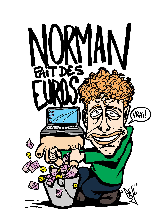 P ji caricature norman fait des vid os youtubeurs caricature comic books et youtubers - Dessin de cyprien ...
