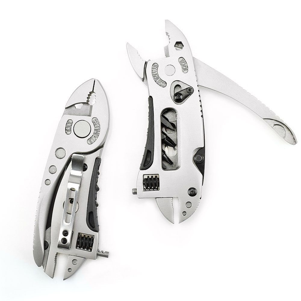 Useful Handy Durable Stainless Steel Camping Multitool Wrench Tool Adjustable Wrench Hand Tools