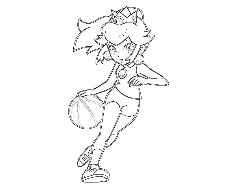 Princess Peach Coloring Page New Princess Peach Peach Play Basket Ball Coloring Pages Fairy Coloring Book Coloring Book Pages