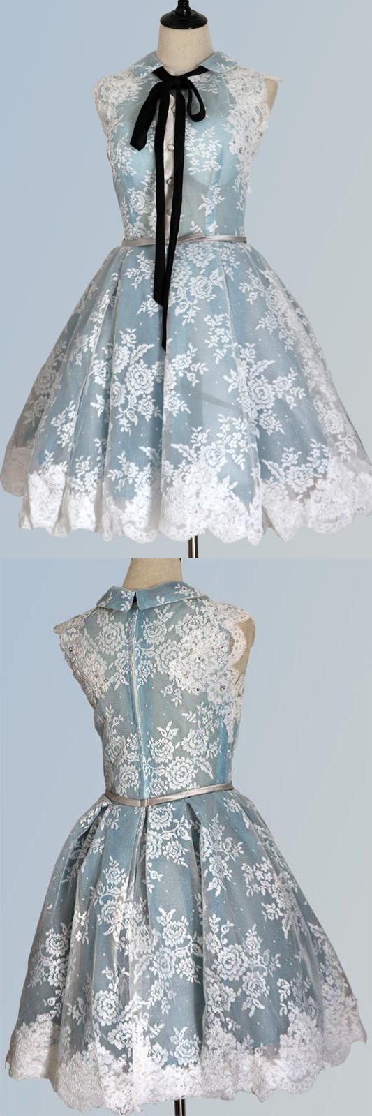 Cute a line lace short homecoming dressesgraduation party dress