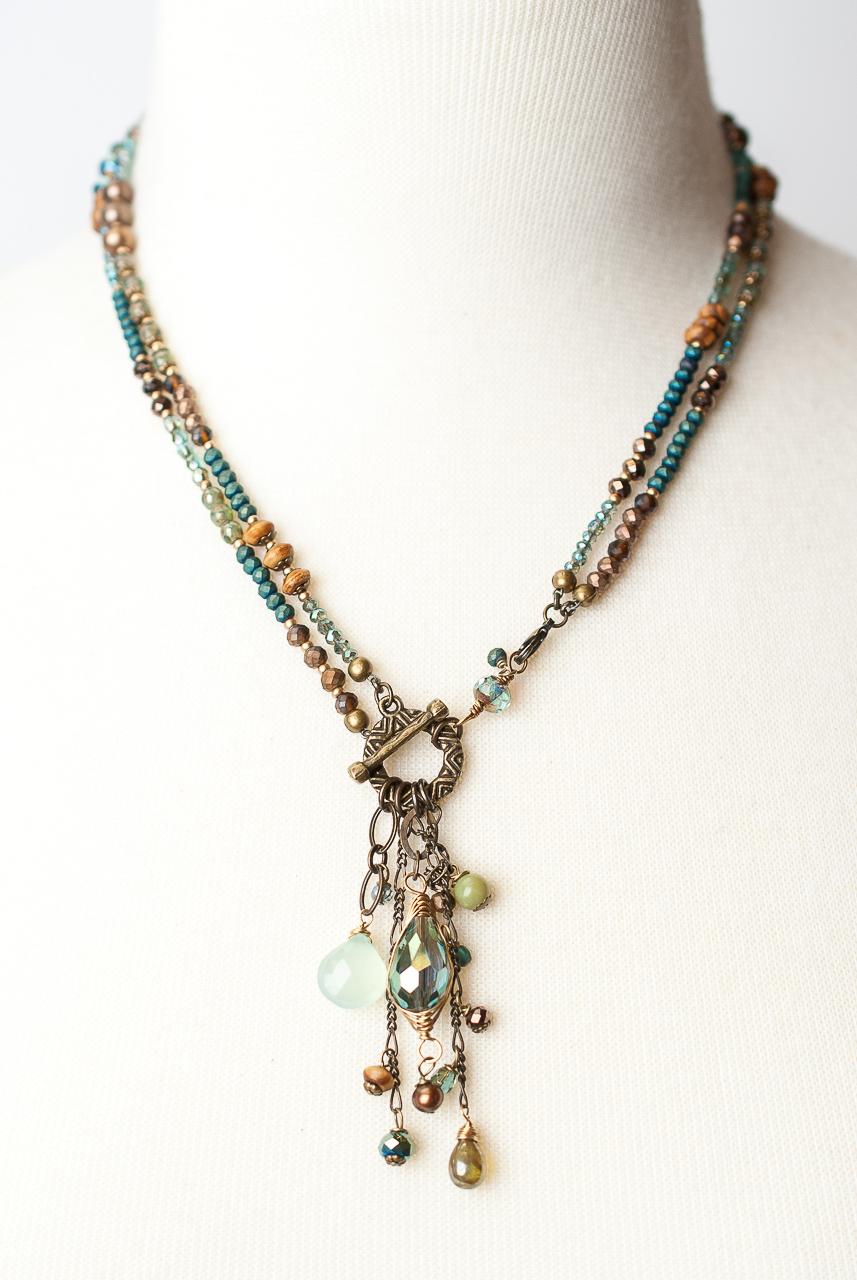 Photo of *Crisp Autumn 19″ or 35.5″ Convertible Tassel Necklace