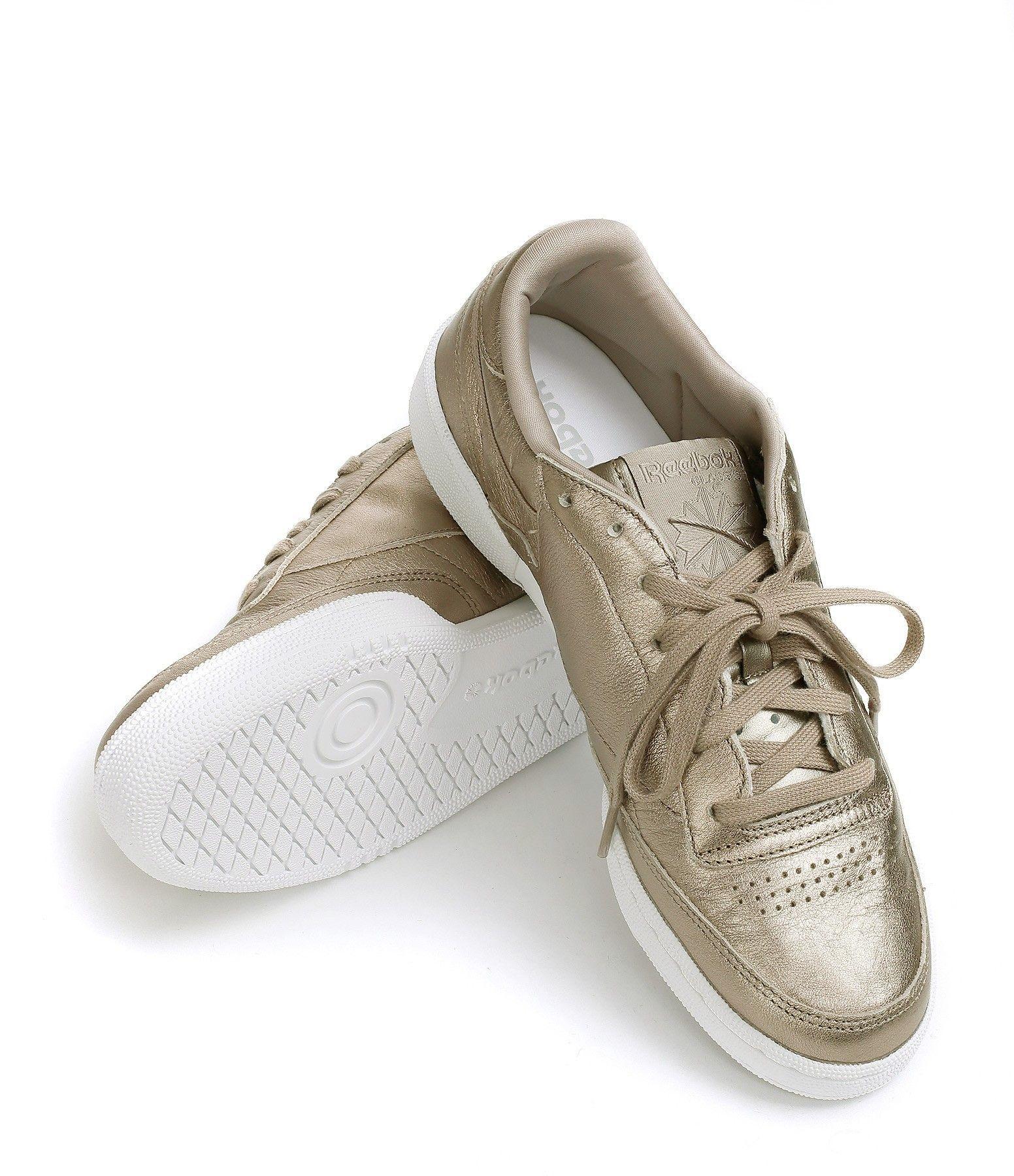 REEBOK Baskets Club C 85 Pearl Grey Gold   shoes