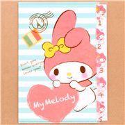 striped My Melody heart 5-pocket A4 file folder