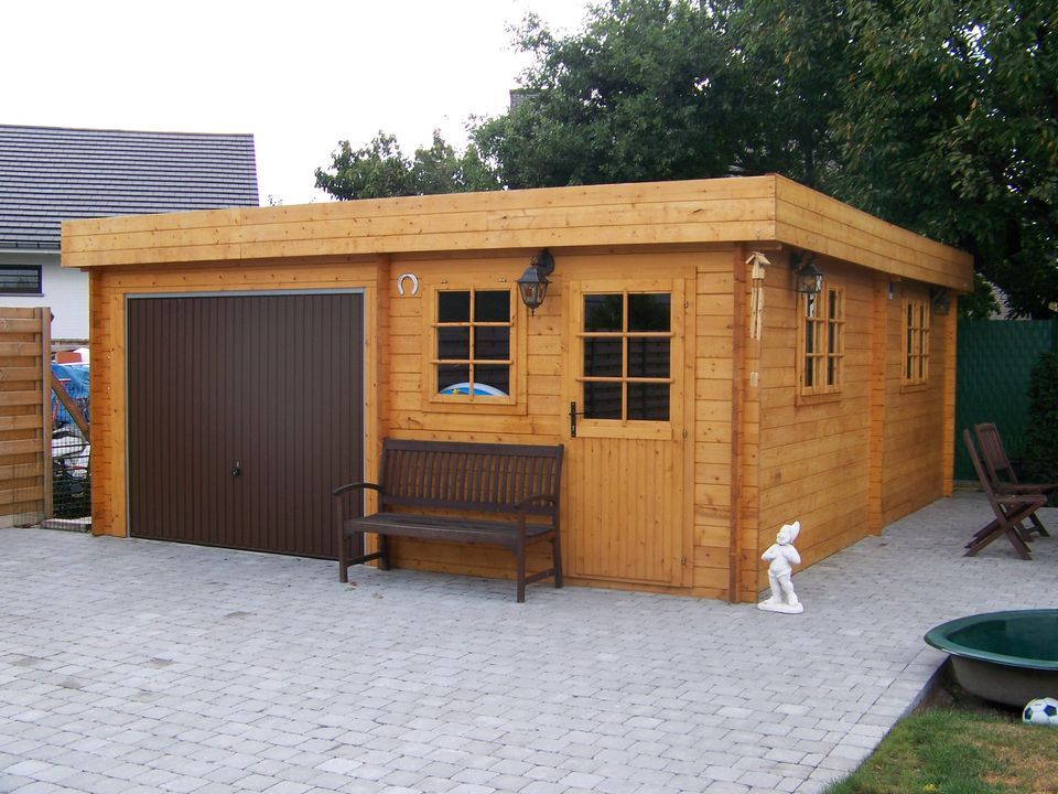 Best Keops Interlock Garages Workshops Wooden Garage Flat 400 x 300