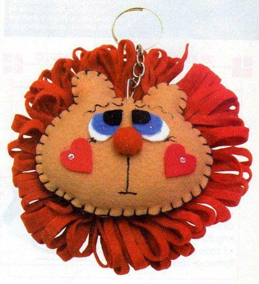 Chaveiro de leãozinho com molde e passo a passo