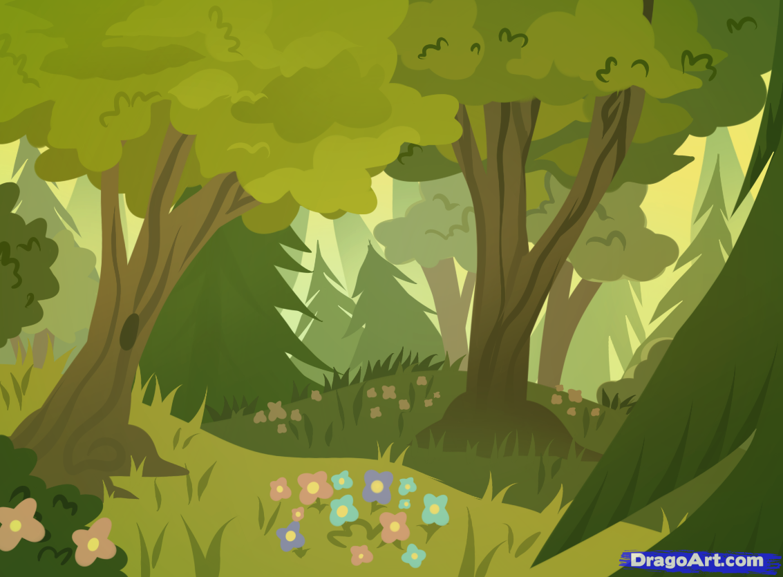 How to Draw Forests, Forest Backgrounds | Crafts, Art ...