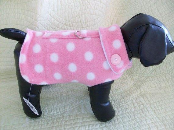 Fleece Dog Coat Fleece Dog Coat Dog Clothes Patterns Dog Coats