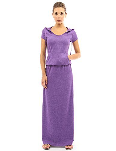 PattyBoutik Women's Hoodie Pocket Maxi Dress (Heather Purple M) PattyBoutik http://www.amazon.com/dp/B00XHM9ZXG/ref=cm_sw_r_pi_dp_qs73wb0MPSQGN