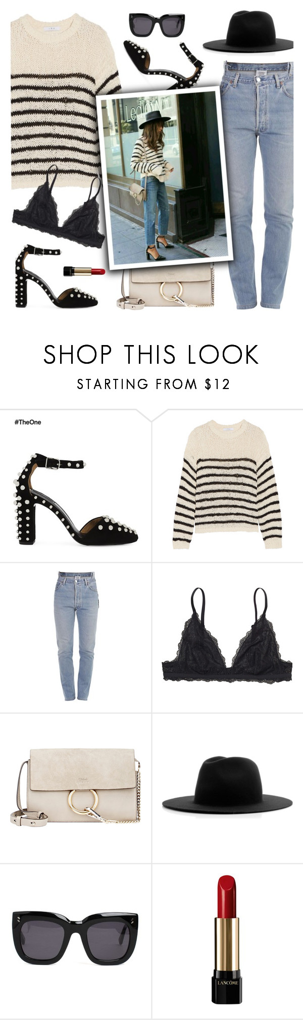 """Street Chic"" by ivka-detektivka ❤ liked on Polyvore featuring Alexander Wang, IRO, Vetements, Monki, Chloé, Études, STELLA McCARTNEY, Lancôme and StreetStyle"