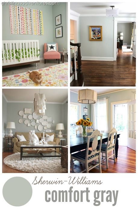 Sherwin Williams Comfort Gray   A Beautiful Gray With A Hint Of Sage Green  #DIY #paint