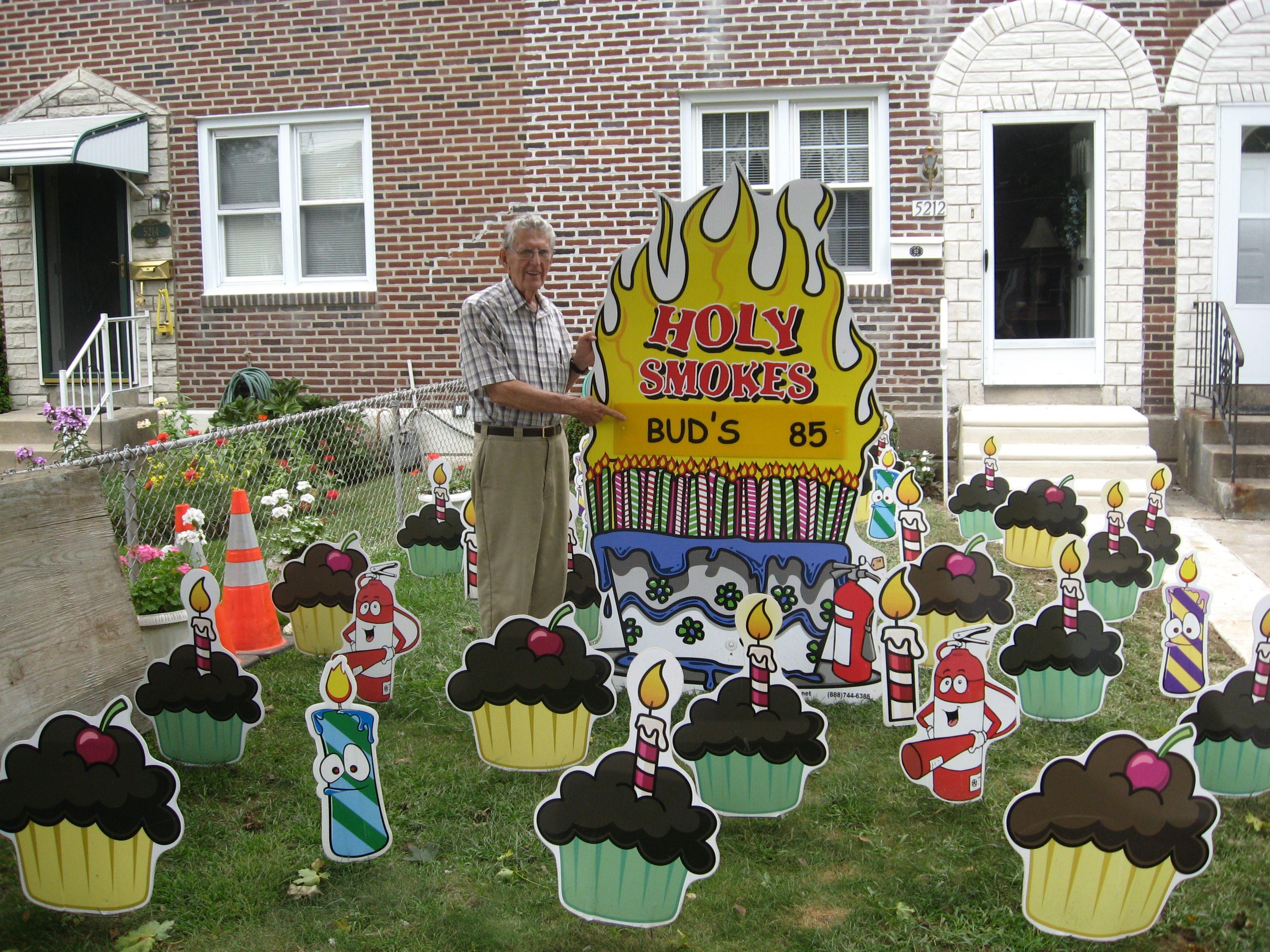 Holy Smokes Birthday Yard Card Birthday Yard Signs Halloween