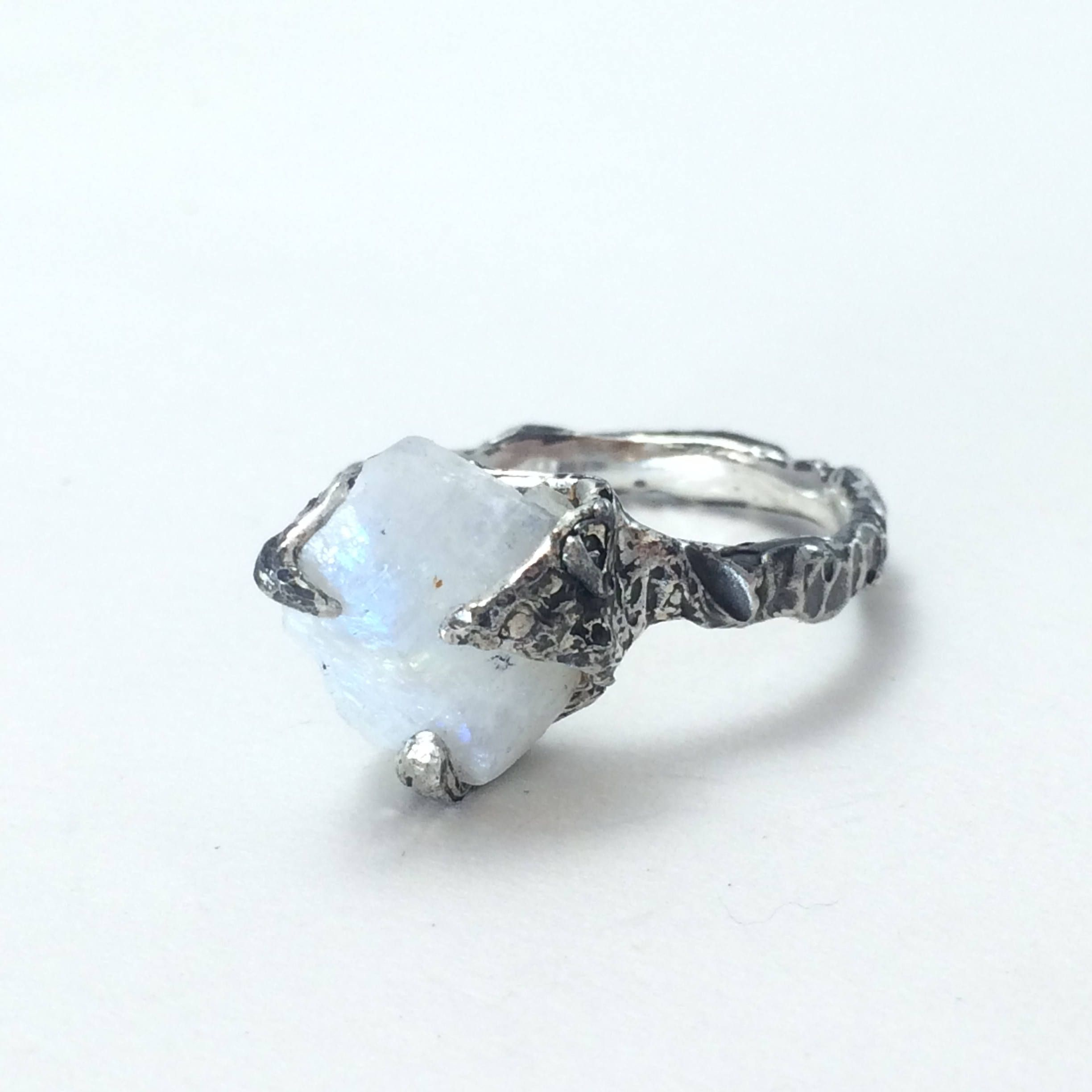 moonstone raw rings ring forge ella engagement diamond shop the chestnut tear