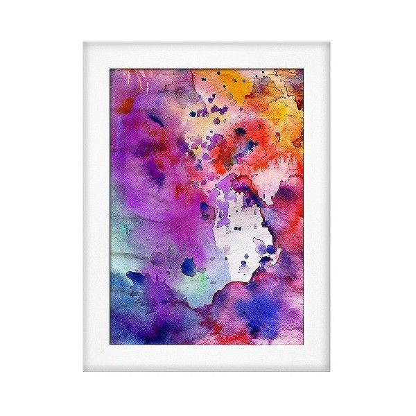 Art Framed Wall Poster Print Abstract Grunge Texture With Paint