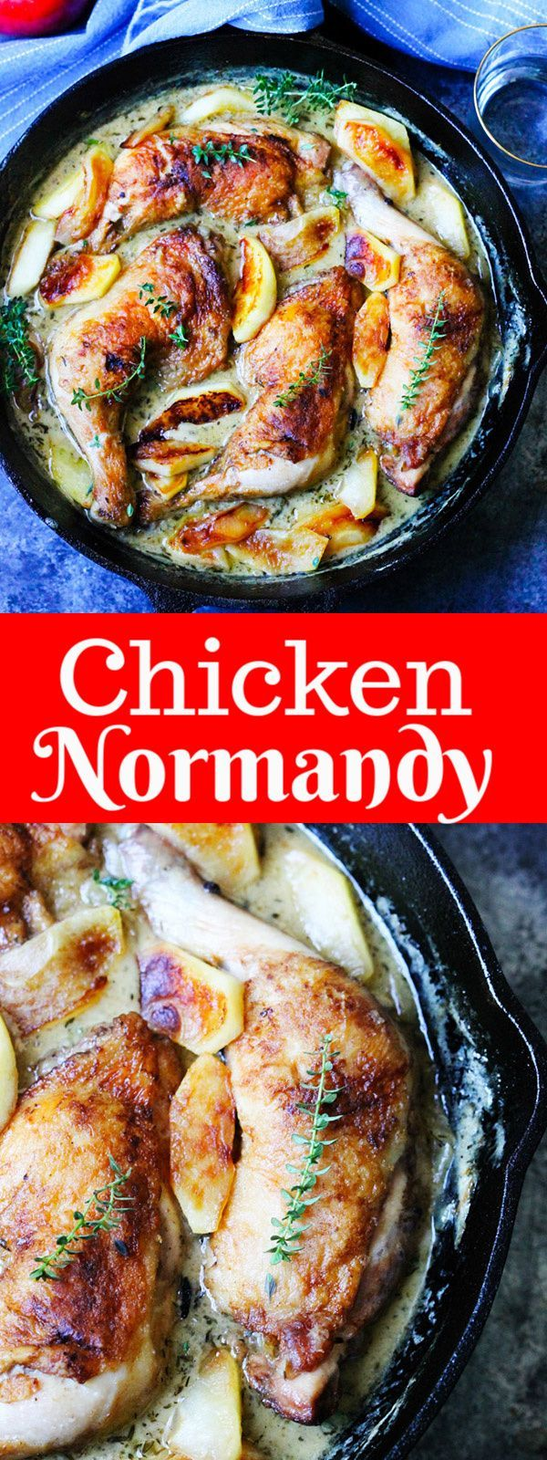 Chicken Normandy Braised Chicken Legs In Apple Cider Brandy Recipe Chicken Normandy French Chicken Dishes Braised Chicken