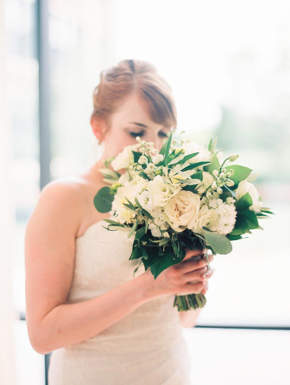 {{Bride portrait at Greenhouse Loft Chicago with