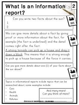 Writing Information Reports Writing Reports Guide Printables And Activities Report Writing Writing Units Writing