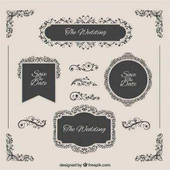 emblemas elegantes do casamento