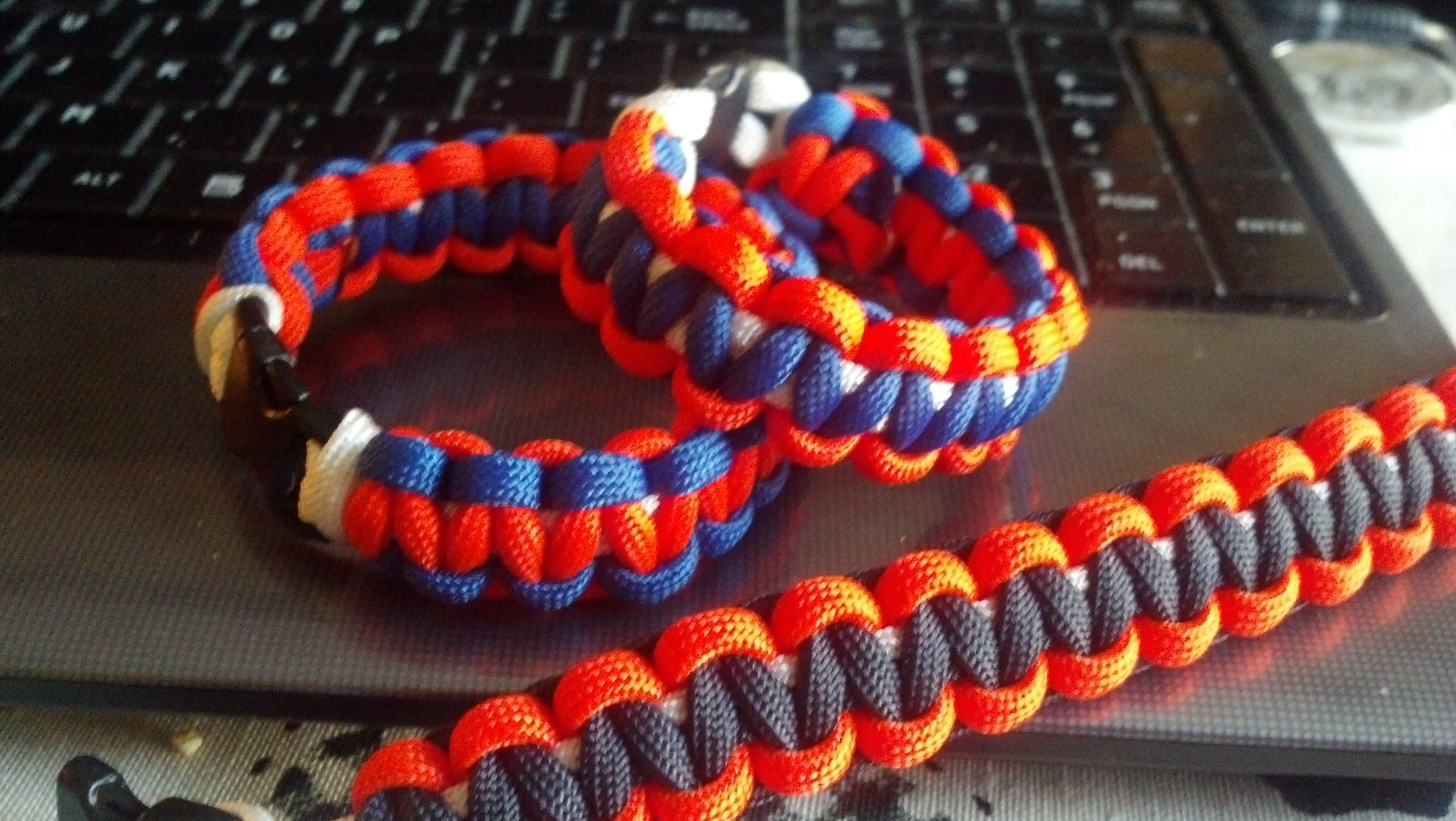 Paracord bracelet to wear and bring my broncous extra luck