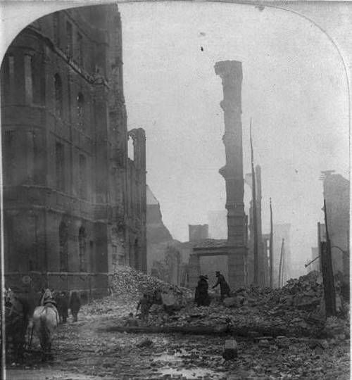 William Herman Rau The Aftermath Of The Great Baltimore Fire Of