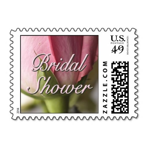 bridal shower postage stamp