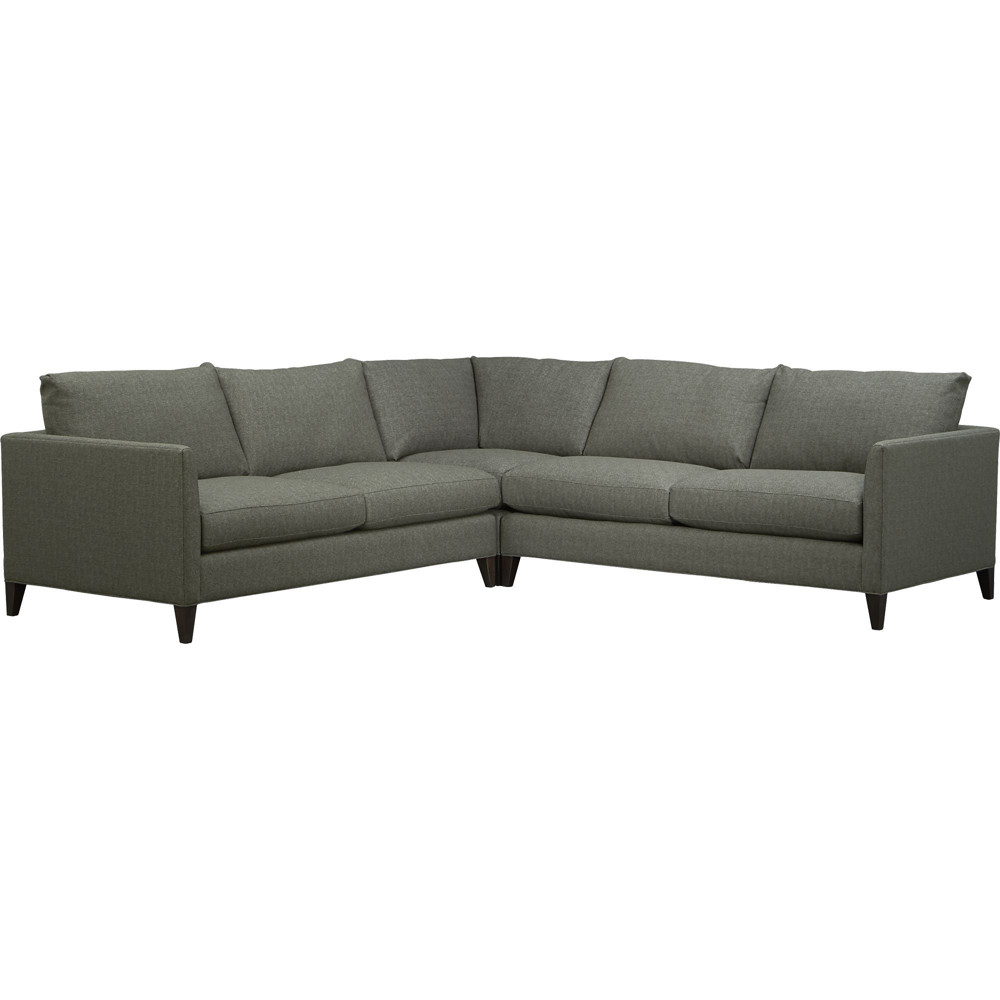Klyne ii 3 piece corner sectional sofa in sectional sofas crate and barrel